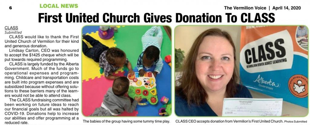 United Church Donation